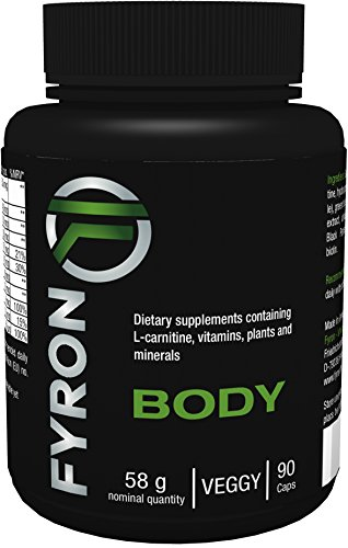 Fyron Body – Green Coffee Extract, L-carnitine, Guarana Extract + Green Tea Extract + Cayenne Pepper + Black Pepper + Vitamins – 90 capsules 41o4H8DmvTL