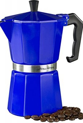 Andrew James Espresso Maker Percolator Moka Pot In Blue, 6 Cup andrew james espresso maker percolator moka pot in blue 6 cup 270x400