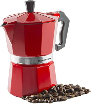 Andrew James Percolator Espresso Coffee Maker In Red, 3 Cup, For Stove Tops, Italian Style andrew james percolator espresso coffee maker in red 3 cup for stove tops italian style
