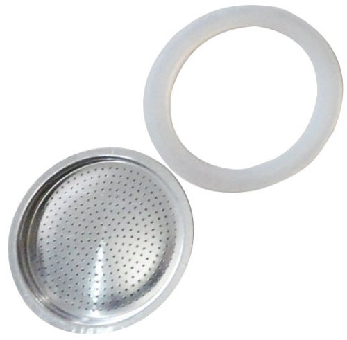 Andrew James Spare Filter and Silicone Gasket For A 3 Cup Size Stove Top Espresso Coffee Percolators And Moka Pots andrew james spare filter and silicone gasket for a 3 cup size stove top espresso coffee percolators and moka pots