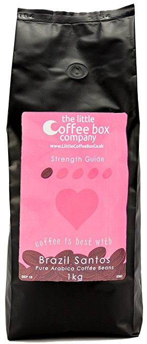 Brazil Santos Coffee Beans 1kg – 100% Premium Arabica Light Roast brazil santos coffee beans 1kg 100 premium arabica light roast