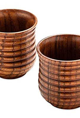Buenalife Wooden Cups For drinking Tea, Coffee, Wine, Beer, Hot Drinks buenalife wooden cups for drinking tea coffee wine beer hot drinks 270x400
