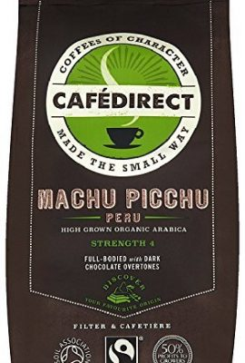 Cafe Direct Fairtrade Organic Roast/Ground Machu Picchu Coffee 227gm TWI12026 cafe direct fairtrade organic roastground machu picchu coffee 227gm twi12026 270x400