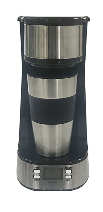 Coffee Maker, Powerlead Single Cup Coffee Personal One Cup Coffee Maker with Travel Coffee Mug Coffee Dripper Brew with Ground Coffee or Coffee Pods coffee maker powerlead single cup coffee personal one cup coffee maker with travel coffee mug coffee dripper brew with ground coffee or coffee pods