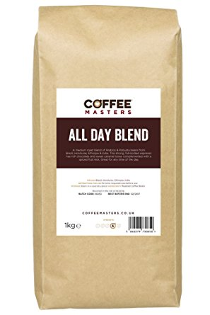 Coffee Masters All Day Blend Espresso Coffee Beans 1kg coffee masters all day blend espresso coffee beans 1kg