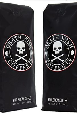 Death Wish Ground Coffee Bundle Deal, The World's Strongest Coffee, Fair Trade and USDA Certified Organic, 2 lb Bag death wish ground coffee bundle deal the worlds strongest coffee fair trade and usda certified organic 2 lb bag 270x400