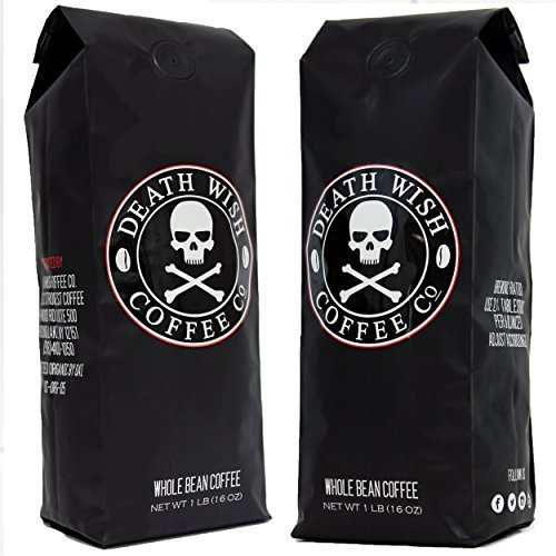 Death Wish Ground Coffee Bundle Deal, The World's Strongest Coffee, Fair Trade and USDA Certified Organic, 2 lb Bag death wish ground coffee bundle deal the worlds strongest coffee fair trade and usda certified organic 2 lb bag