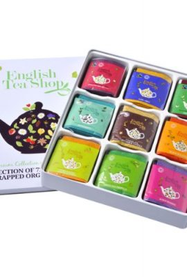 English Tea Shop Assorted Fairtrade and Organic Tea Bags Gift Tin (72 Sachets) english tea shop assorted fairtrade and organic tea bags gift tin 72 sachets 270x400