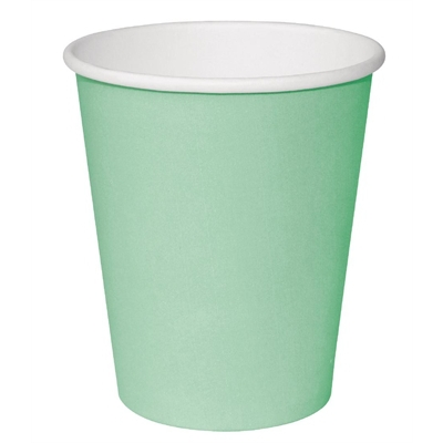 Fiesta GP403 Takeaway Coffee Cups, Single Wall, 8 oz., Turquoise (Pack of 1000) fiesta gp403 takeaway coffee cups single wall 8 oz turquoise pack of 1000