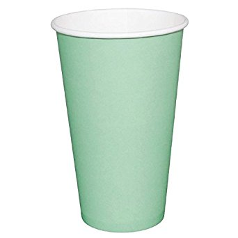 Fiesta GP404 Takeaway Coffee Cups, Single Wall, 12 oz., Turquoise (Pack of 1000) fiesta gp404 takeaway coffee cups single wall 12 oz turquoise pack of 1000