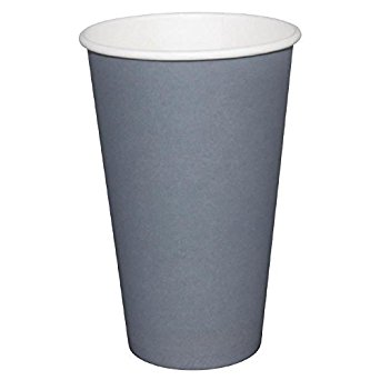Fiesta GP416 Takeaway Coffee Cups, Single Wall, 12 oz., Charcoal (Pack of 1000) fiesta gp416 takeaway coffee cups single wall 12 oz charcoal pack of 1000