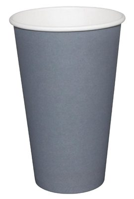 Fiesta GP417 Takeaway Coffee Cups, Single Wall, 16 oz., Charcoal (Pack of 1000) fiesta gp417 takeaway coffee cups single wall 16 oz charcoal pack of 1000 270x400