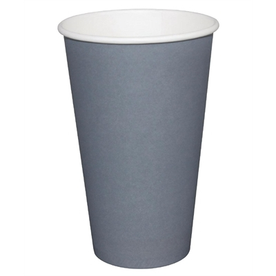 Fiesta GP417 Takeaway Coffee Cups, Single Wall, 16 oz., Charcoal (Pack of 1000) fiesta gp417 takeaway coffee cups single wall 16 oz charcoal pack of 1000