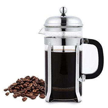 French Press Coffee Maker – Stainless Steel and Dishwasher Safe – 8 Cups/1.0 L/34 oz french press coffee maker stainless steel and dishwasher safe 8 cups1 0 l34 oz
