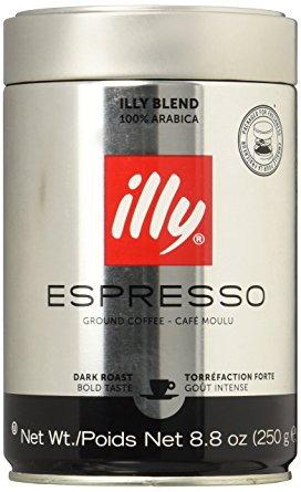 illy Dark Roast Ground Coffee 250 g (Pack of 2) illy dark roast ground coffee 250 g pack of 2