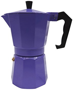 Italian Espresso Stove Top Coffee Maker Pot 1 Cup purple italian espresso stove top coffee maker pot 1 cup purple