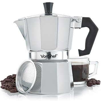 Italian Espresso Stove Top Coffee Maker Pot 3 Cup Black italian espresso stove top coffee maker pot 3 cup black
