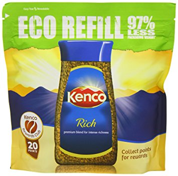 Kenco Rich Instant Coffee Eco Refill 150 g (Pack of 6) kenco rich instant coffee eco refill 150 g pack of 6