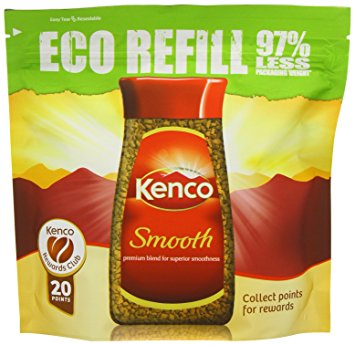 Kenco Smooth Instant Coffee Eco Refill 150 g (Pack of 6) kenco smooth instant coffee eco refill 150 g pack of 6
