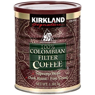 Kirkland Signature 100% Colombian Filter Coffee, 1.362kg (Pack of 2) kirkland signature 100 colombian filter coffee 1 362kg pack of 2