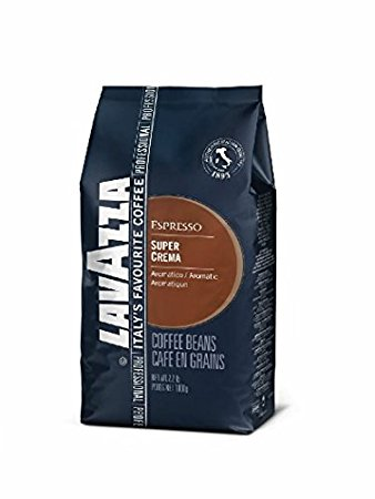 Lavazza Coffee Espresso Super Crema, Whole Beans, 1000g lavazza coffee espresso super crema whole beans 1000g