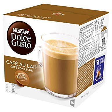 NESCAFÉ Dolce Gusto Cafe Au Lait, Pack of 3 (Total 48 Capsules, 48 Servings) nescafe dolce gusto cafe au lait pack of 3 total 48 capsules 48 servings