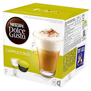 NESCAFÉ Dolce Gusto Cappuccino, Pack of 3 (Total 48 Capsules, 24 Servings) nescafe dolce gusto cappuccino pack of 3 total 48 capsules 24 servings