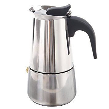 SODIAL(R) 100ML Stainless Steel Coffee Maker Percolator Stove Top Pot sodialr 100ml stainless steel coffee maker percolator stove top pot