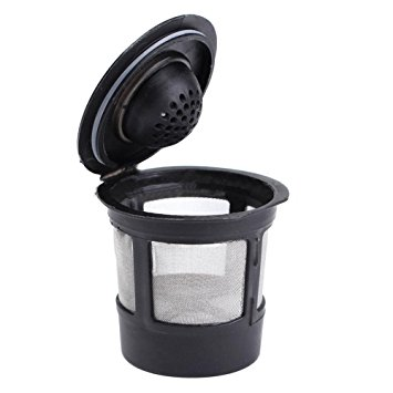 SODIAL(R) Reusable Single Cup For Keurig Solo Filter Pod K-Cup Coffee Stainless Mesh Black Pattern:1 Pc sodialr reusable single cup for keurig solo filter pod k cup coffee stainless mesh black pattern1 pc