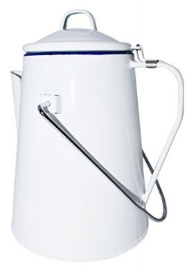 Strider white enamel 2 litre camping coffee pot strider white enamel 2 litre camping coffee pot 270x400