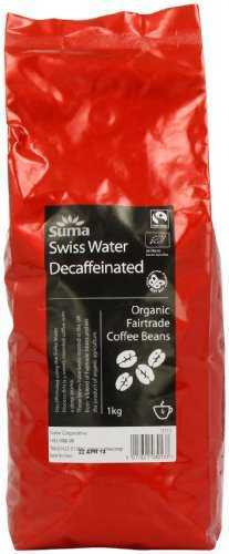 Suma Fairtrade Organic Swiss Water Decaffeinated Coffee Beans 1 kg suma fairtrade organic swiss water decaffeinated coffee beans 1 kg