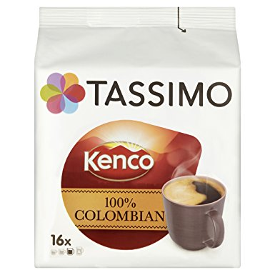 TASSIMO Kenco Colombian 16 Capsules (Pack of 5, Total 80 Capsules) tassimo kenco colombian 16 capsules pack of 5 total 80 capsules