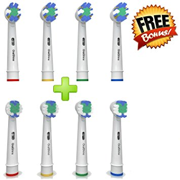 The Ultimate Oral B Braun Replacement Best Electric Toothbrush Heads (8) By OralShine | 4 Complimentary Soft Brush Heads Plus 4 Regular Heads | Remove Plaque And Decrease Gingivitis the ultimate oral b braun replacement best electric toothbrush heads 8 by oralshine 4 complimentary soft brush heads plus 4 regular heads remove plaque and decrease gingivitis