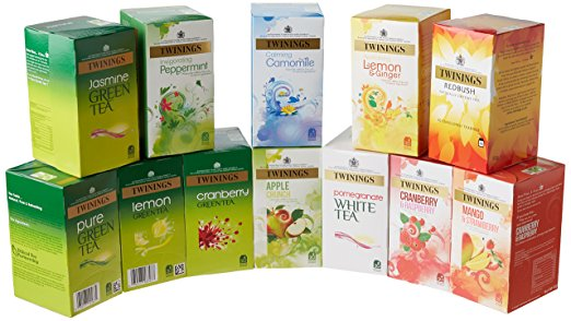 Twinings Herbal Infusion Tea Bags Variety Pack (Pack of 12, total 240 tea bags) twinings herbal infusion tea bags variety pack pack of 12 total 240 tea bags