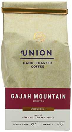 Union Hand Roasted Gajah Mountain Sumatra Whole Bean Coffee 200 g (Pack of 2) union hand roasted gajah mountain sumatra whole bean coffee 200 g pack of 2