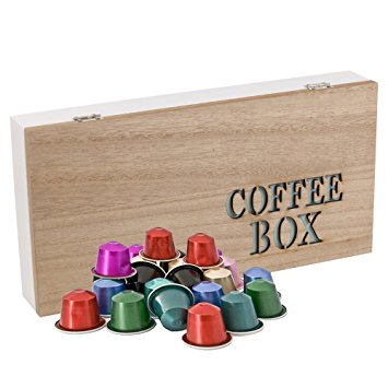 Wooden Nespresso Coffee Capsule Pod Holder Retro Box – Choice of 4 Styles wooden nespresso coffee capsule pod holder retro box choice of 4 styles