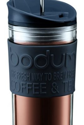 Bodum Travel Press Set Coffee Maker with Extra Lid, 0.35 L/12 oz bodum travel press set coffee maker with extra lid 0 35 l12 oz 270x400