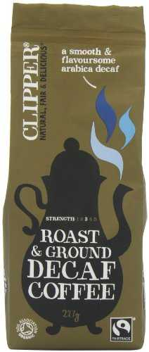 Clipper Fairtrade Organic Decaffeinated Roast and Ground Arabica Coffee 227 g (Pack of 2) clipper fairtrade organic decaffeinated roast and ground arabica coffee 227 g pack of 2