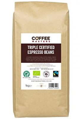 Coffee Masters Triple Certified, Organic, Fairtrade, Arabica Coffee Beans 1kg coffee masters triple certified organic fairtrade arabica coffee beans 1kg 270x400
