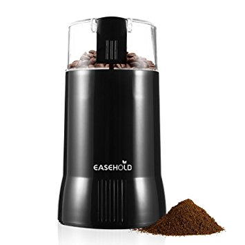 Easehold 200W Electric Whole Coffee Grinder Bean Nut and Spice Grindering with Stainless Steel Blade Black easehold 200w electric whole coffee grinder bean nut and spice grindering with stainless steel blade black