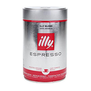 Illy Espresso Ground Coffee 250g (Pack of 1) illy espresso ground coffee 250g pack of 1