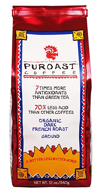 Puroast Low Acid Coffee Organic French Roast Ground Coffee, 12 Ounce Bag puroast low acid coffee organic french roast ground coffee 12 ounce bag