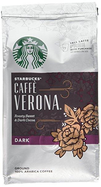 Starbucks Verona Blend Ground Coffee 200 g (Pack of 6) starbucks verona blend ground coffee 200 g pack of 6