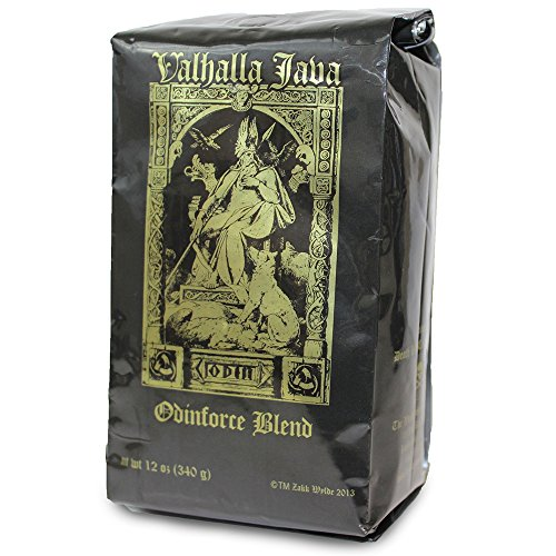 Valhalla Java Ground Coffee by Death Wish Coffee Company, Fair Trade and Organic 12 ounce bag valhalla java ground coffee by death wish coffee company fair trade and organic 12 ounce bag