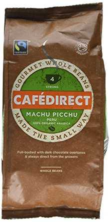 Cafédirect Fairtrade Machu Picchu Whole Bean Arabica Coffee, 227 g, Pack of 6 cafedirect fairtrade machu picchu whole bean arabica coffee 227 g pack of 6