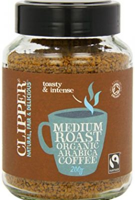 Clipper Fairtrade Organic Medium Roast Instant Coffee 200g (Pack of 2) clipper fairtrade organic medium roast instant coffee 200g pack of 2 270x400