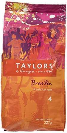 Taylors of Harrogate Cafe Brasilia Rich Roast Ground Coffee 227 g (Pack of 3) taylors of harrogate cafe brasilia rich roast ground coffee 227 g pack of 3