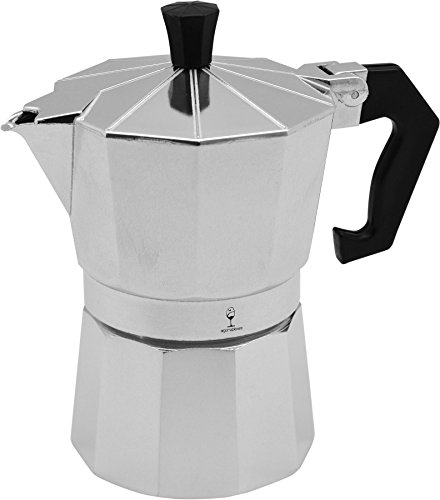 Argon Tableware 3 Cup Italian Style Stove Top Espresso Coffee Percolator. Traditional Design 414lz6zEF5L
