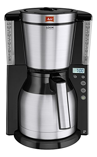 Melitta Look IV Therm Timer, 1011-16, Filter Coffee Machine with Insulated Jug, Timer Feature, Aroma Selector, Black/Brushed Steel 41usOx7ETJL