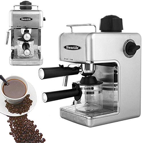 Sentik Professional Espresso Cappuccino Coffee Maker Machine Home – Office (Silver) 51mEtedv9NL